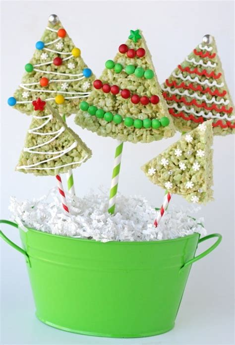 rice krispies treats christmas trees by glorious treats