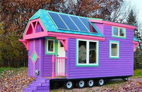 solar house images colorful solar powered ravenlore tiny house is built to
