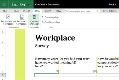 Free Excel Template For Conducting Workplace Surveys Microsoft Excel Survey Template