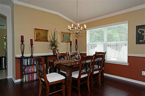 paint ideas for dining room with chair rail dining room color schemes chair rail gen4congress