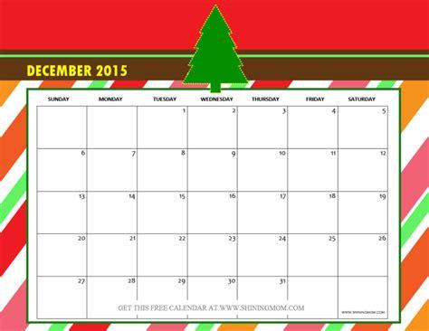 printable december christmas calendar december 2015 calendars christmas themed designs