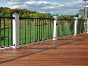 deck railings deck railing options 4qdb minneapolis custom deck builders