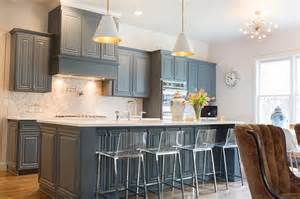 Grey Blue Kitchen Cabinets by Kitchen Cabinets Gray Blue Kitchen
