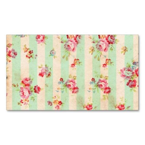 free shabby chic business card templates shabby chic girly green roses stripes pattern business