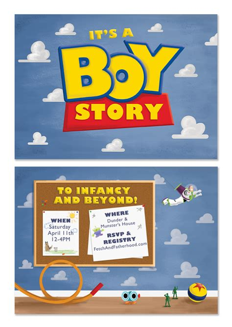 Baby Shower Story by It S A Boy Story Baby Shower Invitations
