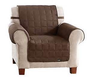 Qvc Recliner Covers Sure Fit Suede Quilted Waterproof Chair Furniture Cover H199422 Qvc