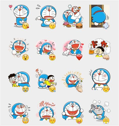 Doraemon Graphic 29 doraemon stickers set telegram stickers