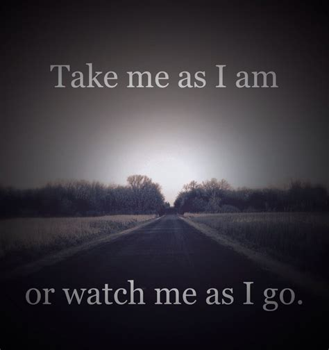 Me Or Me by Take Me As I Am Or Me As I Go Wood