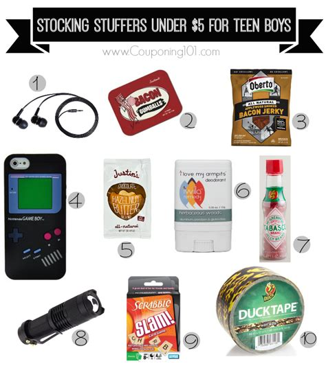 10 stocking stuffer ideas for teen boys for 5 or less