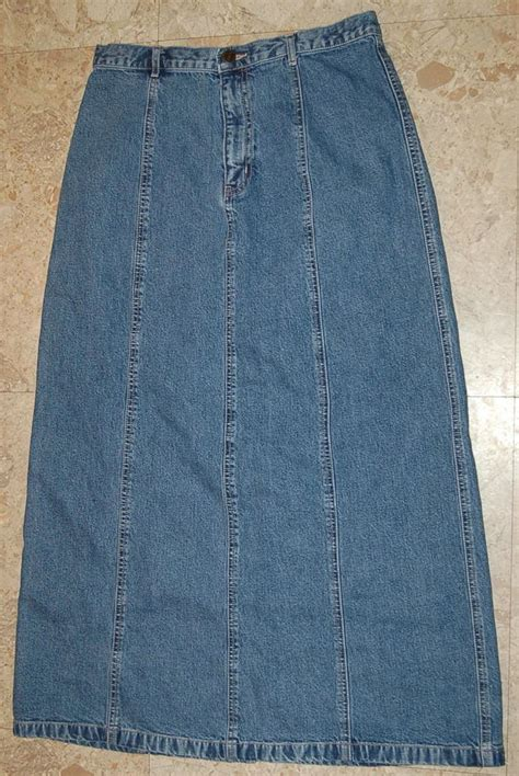 womens blue denim jean skirt size medium 30x36 eddie
