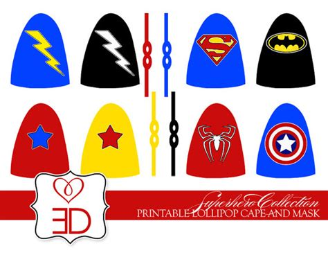 superhero collection printable lollipop by