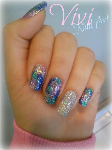 easy nail art using glitter 60 most beautiful glitter nail art ideas