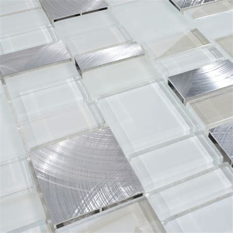 metal and glass tile backsplash cheap brush aluminum tiles