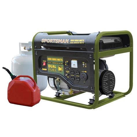 sportsman 4 000 watt dual fuel powered portable generator