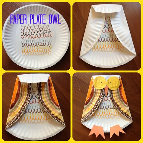 Paper Plate Fall Crafts - fall craft paper plate owl and crafts for