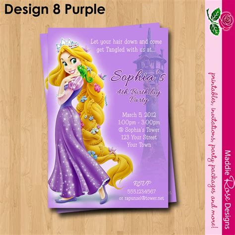 printable rapunzel invitations rapunzel tangled invitation printable birthday party you