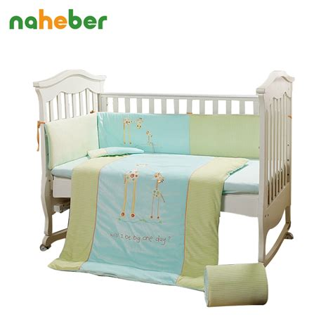 Crib Size Sheets by 7pcs Cotton Baby Cot Bedding Set Crib Bedding 4