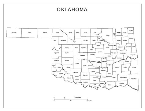 oklahoma counties map oklahoma labeled map