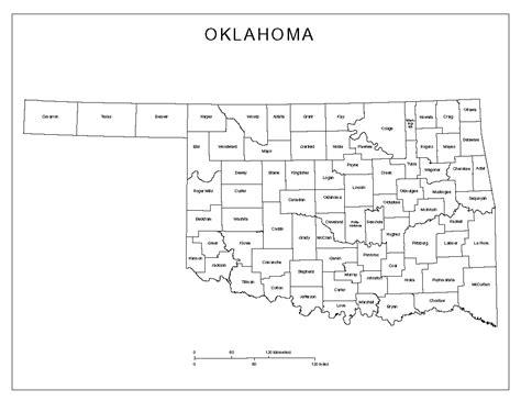 map of oklahoma counties oklahoma labeled map