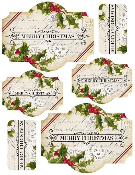 free printable christmas card labels free merry christmas printable labels featuring 1 label