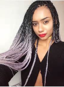 black to grey ombre box braids hairstyles catface hair black grey ombre jumbo braiding hair