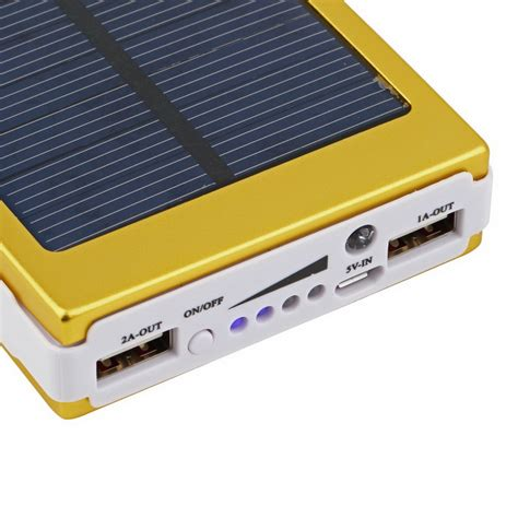 Power Bank Solar Cell 12000mah 12000mah dual usb solar battery charger power bank for