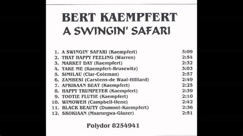 swinging safari song bert kaempfert a swingin safari full album youtube