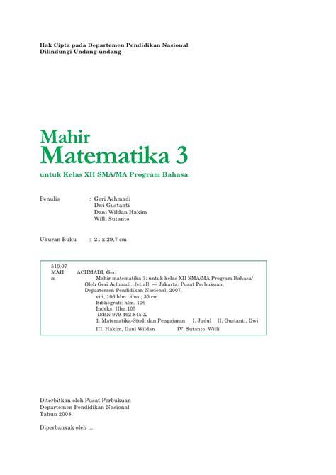 Matematika Sma 3 matematika untuk sma dan ma kelas xi program ipa