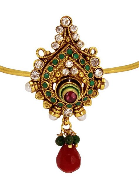 Antique Jewellery Bajuband buy modern style antique design gold plated bajuband with green and beautiful white