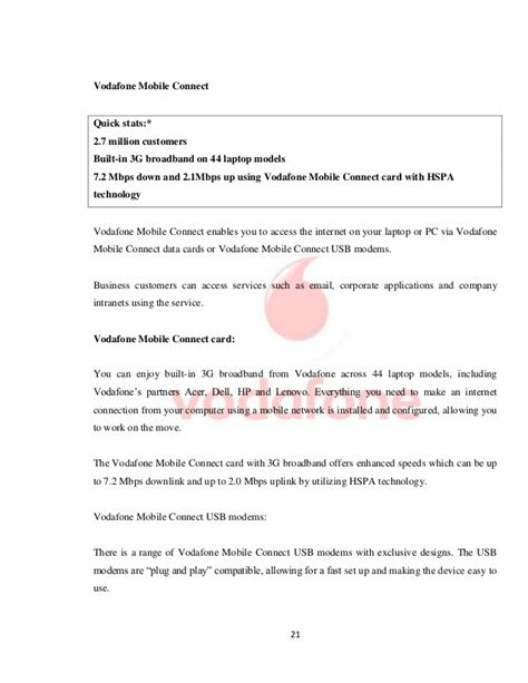 vodafone up letter a comparative study of mobile services provided by
