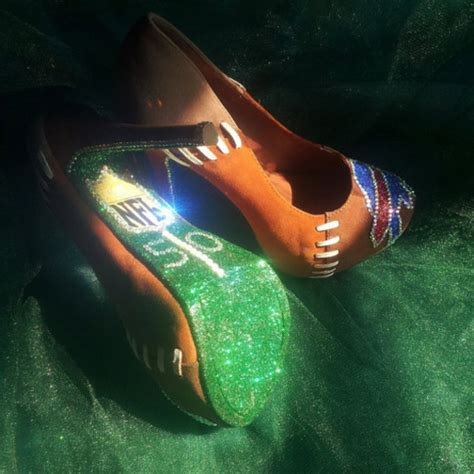 customized high heels shoes nfl football sportswear sports shoes high heels