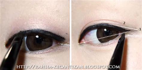 tutorial make up orang korea rahsia kecantikan wanita make up tutorial solekan mata