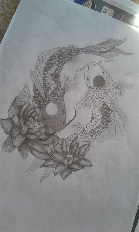 yin yang koi tattoo yin yang koi fish tattoo design by clairewinke tatoos