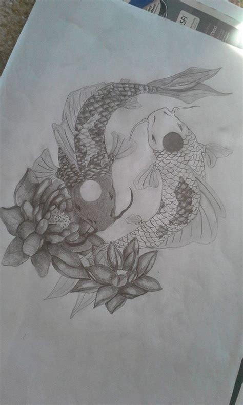 tattoo carpe koi noir et blanc yin yang koi fish tattoo design by clairewinke on deviantart