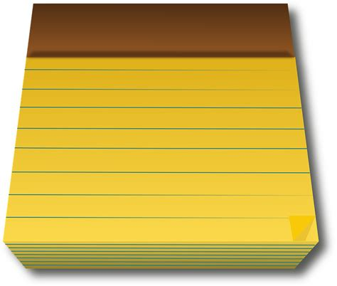 pad free free vector graphic pad yellow paper blank
