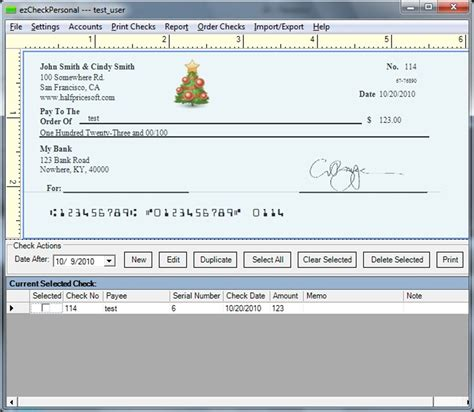 How To Check The Amount On A Gift Card - christmas gift free personal check writing software