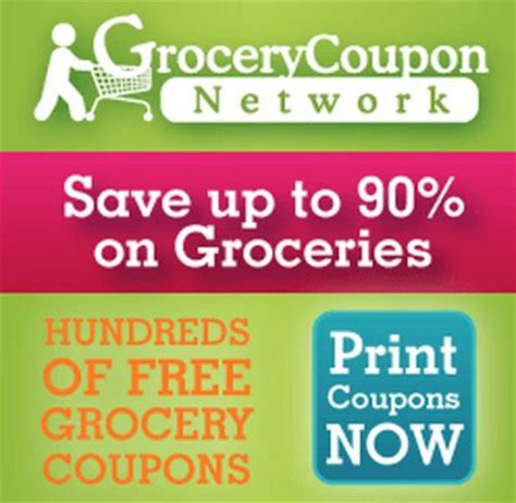 freebies and coupons from the grocery coupon network