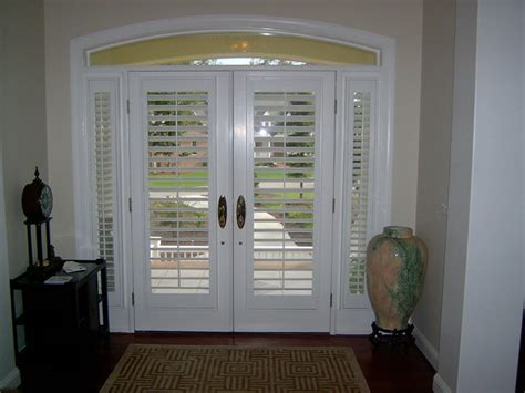 Shutters On Front Door Plantation Shutters On Doors Traditional Raleigh By The Louver Shop