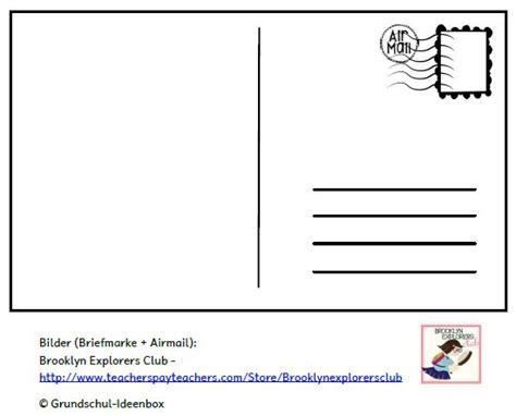 Postkarten Schreiben Muster Grundschul Ideenbox Ferienpostkarte