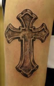 butterflies celtic cross tattoo
