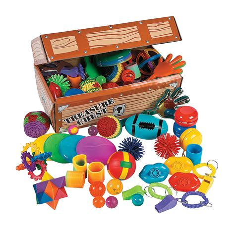 Treasure Chest Giveaways - treasure chest with toy assortment oriental trading