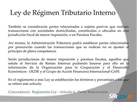 ley de regimen tributario interno 2016 ecuador reglamento a la ley de regimen tributario interno