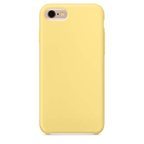 Iphone 6 Plus 6 Plus S Silicone Yellow for iphone 6 plus 6s plus color liquid silicone pc protective back cover yellow