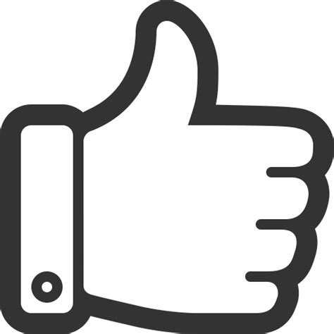 free thumbs up icon clipart best