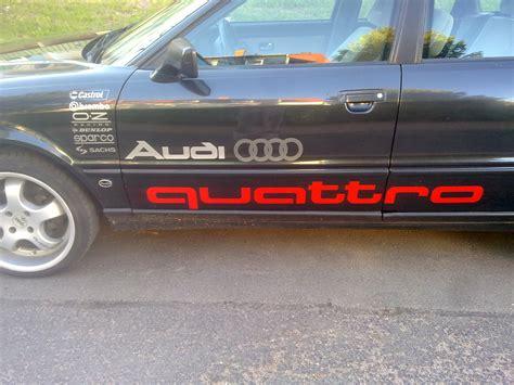 Audi Aufkleber Ebay by 2x Audi Quattro Aufkleber Ca 135cm Sline Ebay