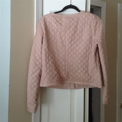 Hinge Quilted Leather Jacket by 28 Hinge Jackets Blazers Hinge Quilted Blush Pink