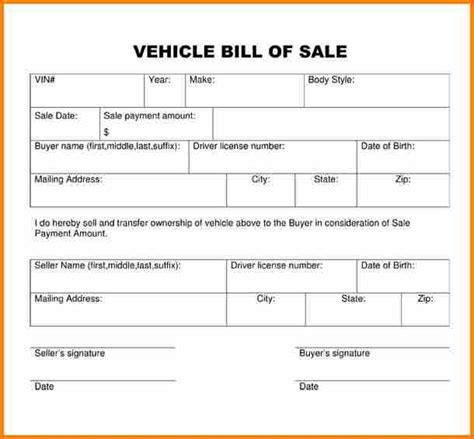 sample business bill of sale form 6 free documents in pdf word