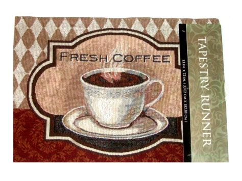 kitchen table runner coffee cup tapestry kitchen table runner