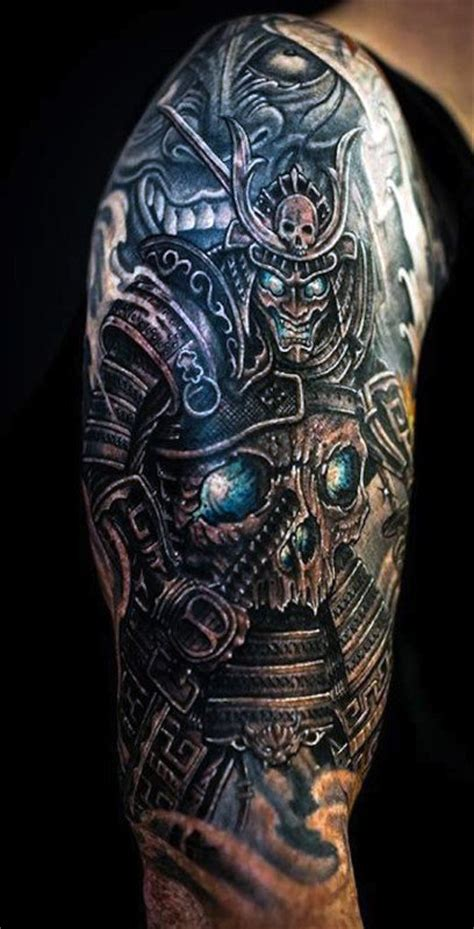 warrior sleeve tattoo designs 50 samurai designs for noble japanese warriors