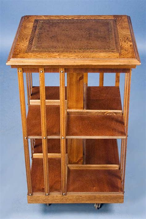 oak revolving bookcase for sale antiques